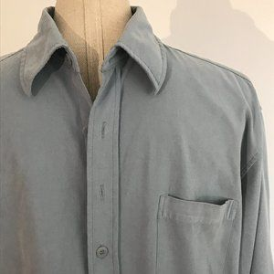 Point Zero - Blue Long Sleeve Button-Down Shirt